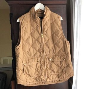 J. Crew | Tan Quilted Puffer Vest